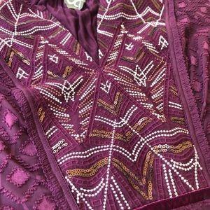 Anthropologie Tops - Anthropologie One September Embellished Blouse Top